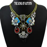 2014 New Fashion Brand Jewelry  Rhinestone Statement Necklaces & Pendants Necklace Women Gift