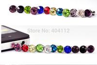 Free Shipping!200pcs 3.5mm Diamond Earphone Dustproof Plug Headset Jack Dust Cap for iphone4 4s 5 5s etc