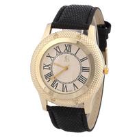 High quality cowhide women fashionable men and women dress watch quartz watch free drop shipping