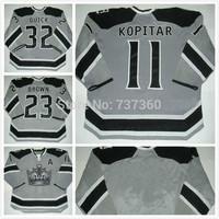 2014 Cheap stitched 2014 NHL Stadium Series /Los Angeles Kings LA Kings 11 Anze Kopitar ice hockey jersey/shirt/sportswear