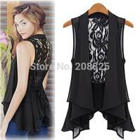 Free Shipping summer 2014 New Fashion Long Cardigan Vest Casual Chiffon Saia Blouses Shirt Plus Size L,XL,XXL,XXXL,XXXXL,4XL