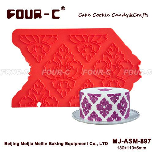 Damask silicone onlay,border lace,cake decorating silicone mold(China (Mainland))