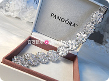 Free shipping Luxury platinum zircon the bride bracelet marriage accessories jewelry