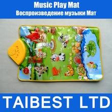 animal de sonido granja escuchar música jugar alfombra alfombras gimnasio juguete juguete tapete los niños hijos bebé toque cantar(China (Mainland))