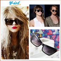 2014 Fashion New Cat Eye Oversized Sunglasses Retro Vintage Style Smoke Black - Style #3801