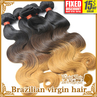 3Pcs Brazilian Human Ombre Hair Extensions Body Wave Mocha Hair Products Shipping Free