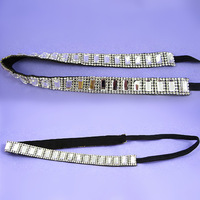 2014 New Korean Hair accessories Rhinestone Gems Elastic Headbands Girls Headwear