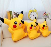 NEW 20cm One pcs Free Shipping Yellow pikachu  pokemon Soft Stuffed Animal Plush toy smilling toys hot sale