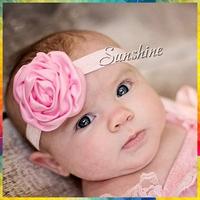 Sunshine store #8N0031 15pcs/lot  15color Infant Baby Newborn Flower Rhinestone Elastic Band Girls Headband Children Accessories
