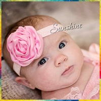 Sunshine store #8N0031 15pcs/lot  8color Infant Baby Newborn Flower Christmas Elastic Band Girls Headband Children Accessories