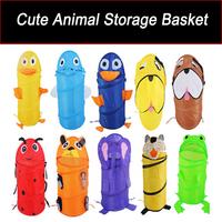 Animal Folding Bath Toy Storage Basket Baby Bathroom Bag Dirty Clothes Storage Basket/Box Child oxford fabric bucket