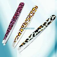EQ0253 Fashion Leopard Beauty Tool Eyebrow Tweezer Hair Removal Tool