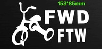 "double 11.11 !!153*85mm funny waterproof car styling,""FWD FTW"" car sticker for opel,kia rio car covers"