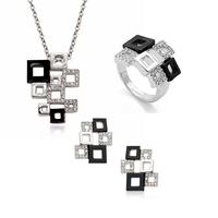 2014 new design cheap zircon jewelry set for women