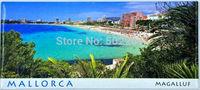 SPAIN MALLORCA Rectangle Mediterranean Ocean Metal Fridge Tourism Souvenir Home Decor