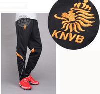 2014 World cup men football pants football traning long pants Netherland team size L- XXXL country teams free shipping P56001