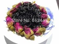 250G Organic Rose Flower Tea,Black tea,Secret Gift+Free shipping