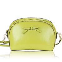 New 2014 Korean Stylish Fashion bowknot Shell shaped genuine leather women messenger bags