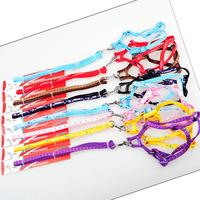 50Pcs/Lot Wholesale Nylon Pet Collar Leash Dog Cat Harness Set S size Free Shipping