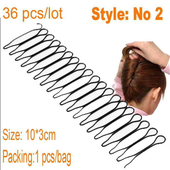 Free Shipping 36pcs/lot Black Plated Thin U Shape Hair Bobby Pin Black Metal Clips Barrette 2013 New arrival Hot sale!hair bun(China (Mainland))