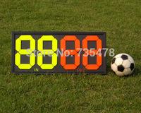 High Quality Four-digit Portable Multi Purpose Sports Manual Scoreboard&Substitution board, football basketball tennis