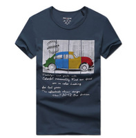 2014 Classic Car 100% Cotton T Shirts Mens T-shirts Tee Shirt Man Camisetas Masculinas O-neck Men T-shirt Casual Short Sleeve