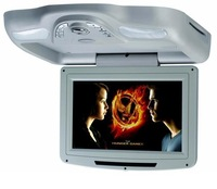 10.2'' Car Overhead DVD Player,Two Dome Lights,MP3/MP4,800x480,FM,IR,USB,SD,Car Roof Mount Flip Down Monitor