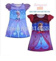Free Shipping  Frozen Dress  In Stock  Frozen Anna Red Dress Short-Sleeve Long Dress for 2-6age Kids USD4.7/pcs Frozen Costumes