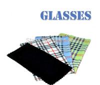 2014 Fashion plaid glasses cloth blue white green black multi colors 100pcs/lot free shipping