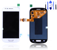 Good quality for samsung galaxy s3 mini lcd with touch screen 1pcs free shipping with used-trace on screen with tools