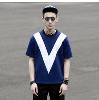 2014 FASHION MEN'S SUMMER SPACE COTTON BLUE T-SHIRT 3D STAGE SHOW MALE TEE TERAFLOPS FLOATING POINT SHORT SLEEVE TOP M,L,XL,XXL