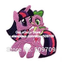 Cartoon Twilight Sparkle Iron-on Patch, My Little Pony Children's Patch Sticker, New Cute for children DIY Cloth Accessories