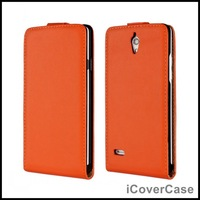 Magnetic Flip Cover Genuine Leather Case for Huawei Ascend G700 with 11 Colors