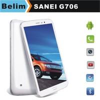 Free Shipping Sanei G706 Quad Core Tablet PC 7inch MTK8382 Built-in 3G Dual SIM Dual Standby 1G RAM 8GB Bluetooth WiFi GPS