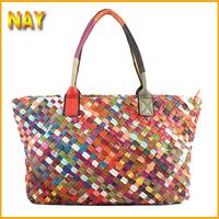 New Special Offer 100% GENUINE LEATHER Handbag Designer Brand Woven Bag Shoulder Tote Bag Women Handbags