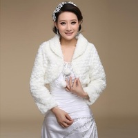 Cape formal wedding dress accessories the bride married the winter thermal long-sleeve small cotton-padded jacket shrug mpj049