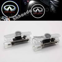 2Pcs LED Door courtesy Shadow Projector logo Light For Infiniti G20 G35 G37 I30 car door light