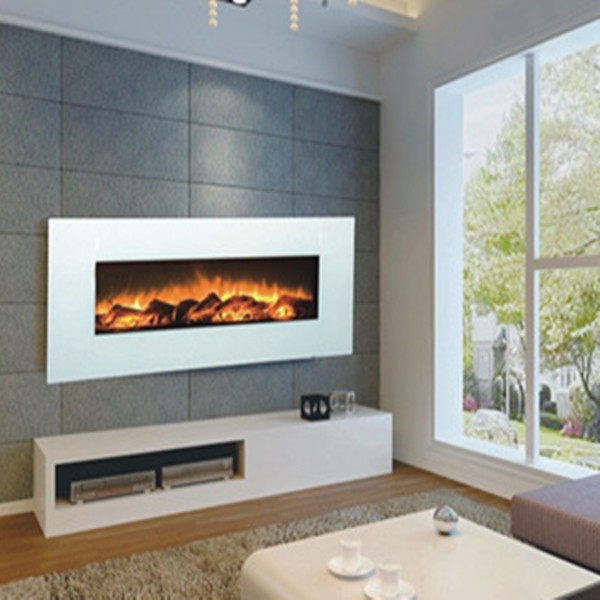 G 01 2 Wall Mounted White Electric Fireplace Core With