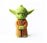 AC72  New Star Wars YODA Cartoon model  external storage  2.0 USB disk Flash memory card stick pen drive 1GB 4GB 8GB 16GB 32GB