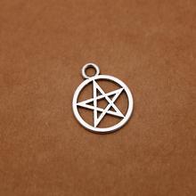 Supernatural Pentagram charms Antique Tibetan Silver Tone for making floating charms bracelet necklace charms