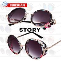2014 Fashion Retro Sunglasses Women Brand Designer Coating Sunglass Vintage Round Steampunk Sun Glasses oculos de sol Feminino