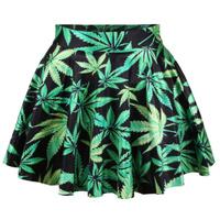 Top Sale New 2014 Spring skirts womens pleated leaf skirts Woah Dude 2.0 HWMF SKIRT Saia free shipping