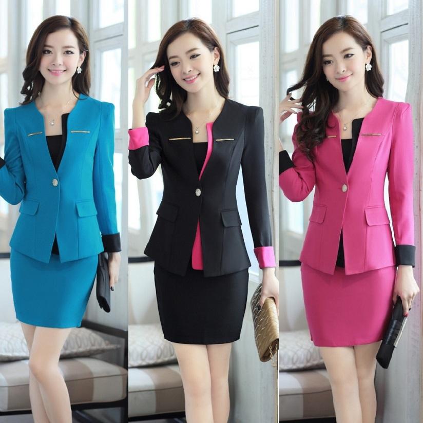 New 2015 spring autumn office uniform designs women for Office uniform design 2014