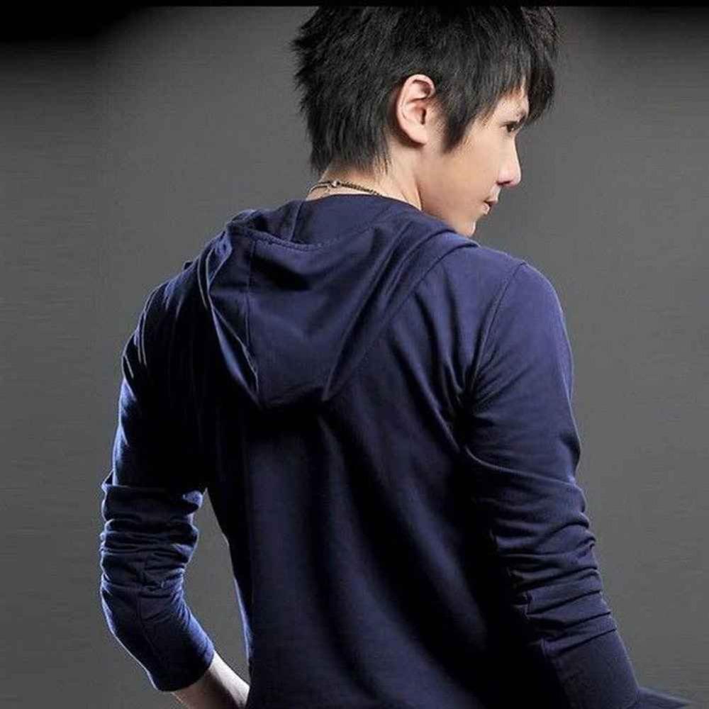Korean Long Sleeve Shirt Men Men's Long Sleeve T-shirt