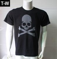 TUTS14148  mens t shirts fashion 2014,  causal Male  tshirts,Skull ,black and white colour ,size M to XXXL  free shipping