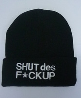 Free Shipping 100% Acrylic Hip-Hop Hat SHUT DES FuC-K UP Ustreet Knitting Wool Beanie Street Dance Caps