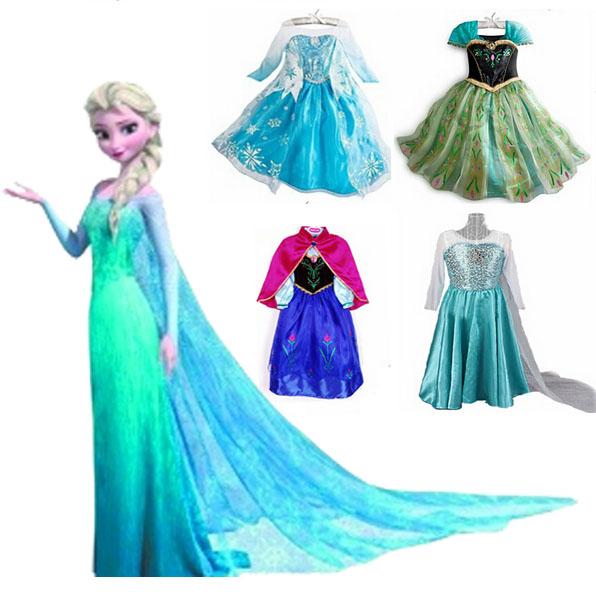 Neuen 2014 Sommer gefroren königin elsa kleid kinder mädchen partykleid, mode baby& Kinder ein stück