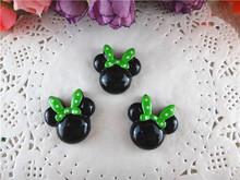 2014 kawaii Minnie Mouse resinas artesanato flatback para cabelo arcos hairbows plana resinas volta 20pcs / WQ14050208 muito(China (Mainland))