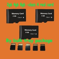 Wholesale price 200pcs/lots 2GB 4GB 8GB real capacity TF micro sd memory cards in bulk package