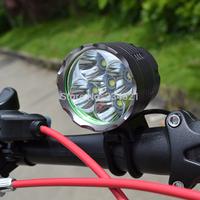 One Day Shipping!!! Bike 5 x CREE XM-L T6 LED 7000 Lm Bicycle Headlight HeadLamp + 6400mah Battery US Power